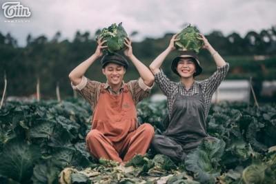Bộ ảnh cưới nông dân gây sốt của cặp đôi công sở chụp ở DL