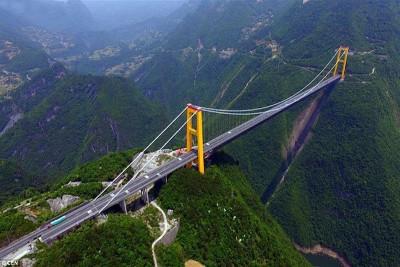 Choáng ngợp trước vẻ đẹp của cây cầu treo cao nhất thế giới