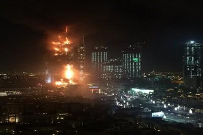 DuBai đón giao thừa bằng vụ cháy tòa nhà 63 tầng.