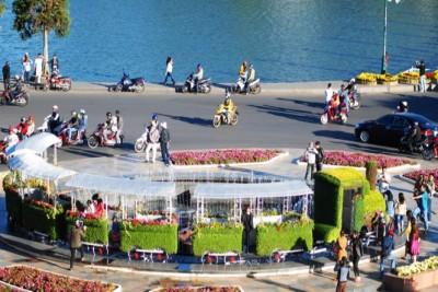 Đoàn tàu hoa ra phố chào Festival hoa Đà Lạt