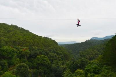 Đu dây mạo hiểm trên cao (High Rope Course) thác Datanla