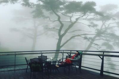 Uống cà phê và tận hưởng cảm giác 'mây ở dưới chân mình'