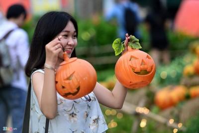 Rộn ràng không khí Halloween ở vườn bí ngô Sài Gòn